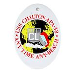 USS Chilton (APA 38) Oval Ornament