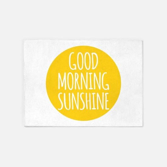 Good morning sunshine 5'x7'Area Rug