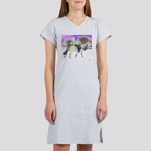 Dressage Fjord Horse Art Print Women's Nightshirt