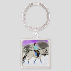 Dressage Fjord Horse Art Print Keychains