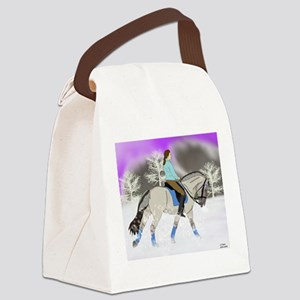 Dressage Fjord Horse Art Print Canvas Lunch Bag