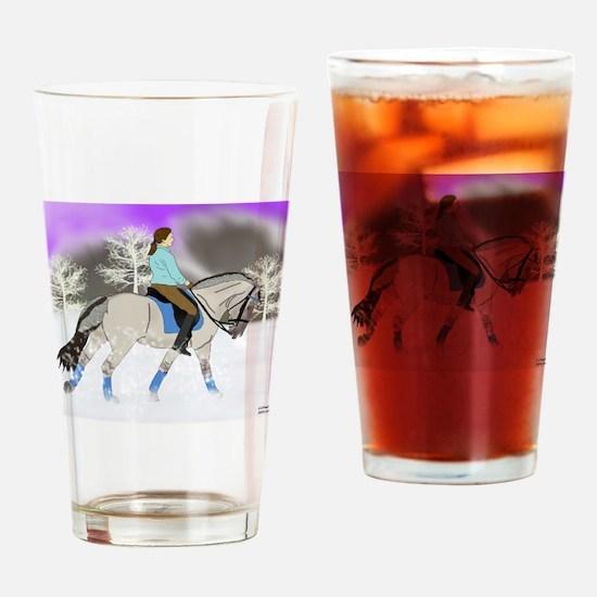 Dressage Fjord Horse Art Print Drinking Glass