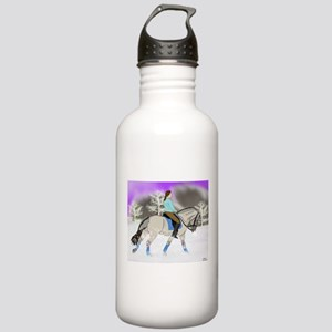Dressage Fjord Horse Art Print Water Bottle