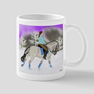 Dressage Fjord Horse Art Print Mugs