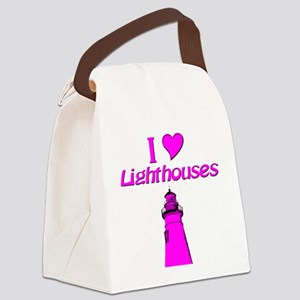 Lighthouses Canvas Lunch Bag