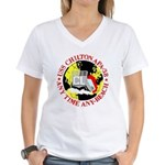 USS Chilton (APA 38) Women's V-Neck T-Shirt