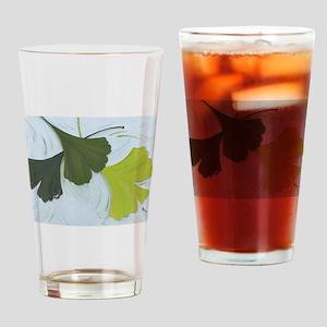 3 shades of Gingko Drinking Glass