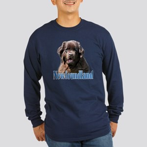 Newf(brown)Name Long Sleeve Dark T-Shirt