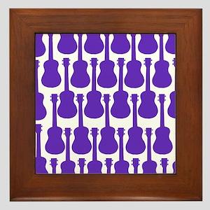 Purple Ukuleles Framed Tile