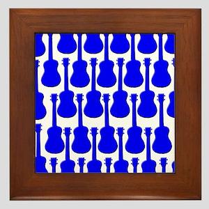 Blue Ukuleles Framed Tile