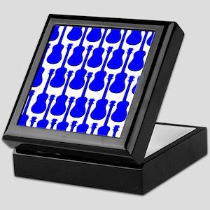 Blue Ukuleles Keepsake Box