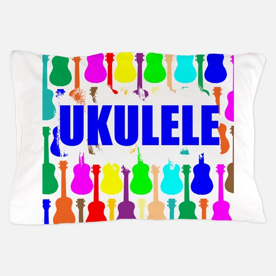 Rainbow Ukulele Pillow Case