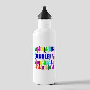 Rainbow Ukulele Water Bottle