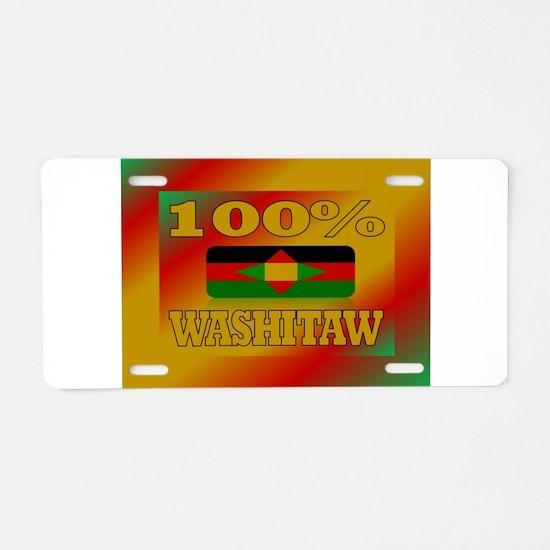 100% Washitaw Aluminum License Plate