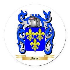Pirker Round Car Magnet