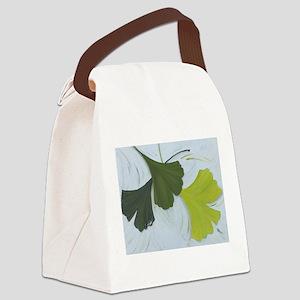 3 shades of Gingko Canvas Lunch Bag