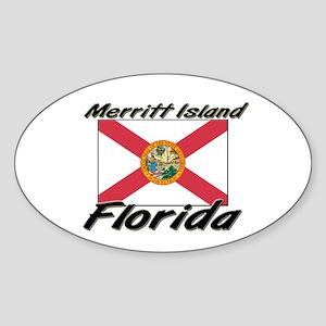 Merritt Island Florida Oval Sticker