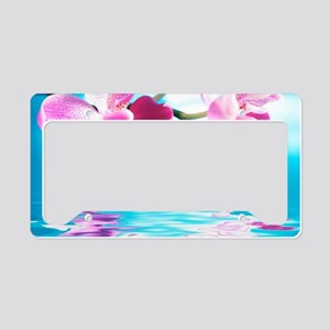 Beautiful Orchids License Plate Holder