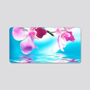 Beautiful Orchids Aluminum License Plate
