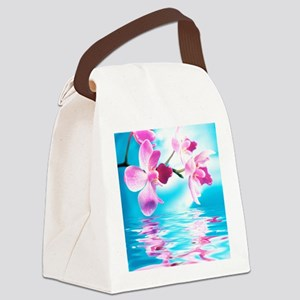Beautiful Orchids Canvas Lunch Bag