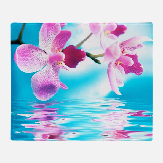 Beautiful Orchids Throw Blanket