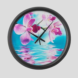 Beautiful Orchids Large Wall Clock