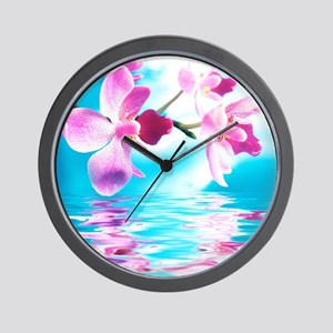 Beautiful Orchids Wall Clock