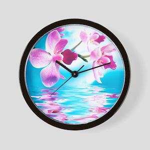 Beautiful Orchids Wall Clock