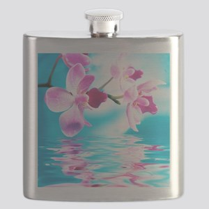 Beautiful Orchids Flask