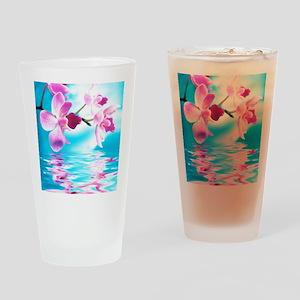 Beautiful Orchids Drinking Glass