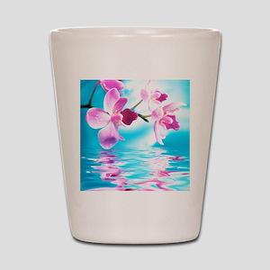 Beautiful Orchids Shot Glass