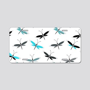 Dragonfly Aluminum License Plate