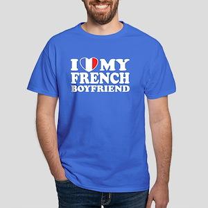 I Love My French Boyfriend Dark T-Shirt