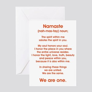 NAMASTE Greeting Cards