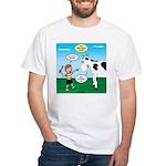Timmy Cow Fetch White T-Shirt