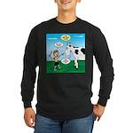 Timmy Cow Fetch Long Sleeve Dark T-Shirt