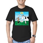 Timmy Cow Fetch Men's Fitted T-Shirt (dark)