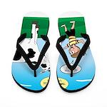 Timmy Cow Fetch Flip Flops