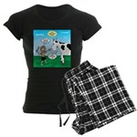 Timmy Cow Fetch Women's Dark Pajamas