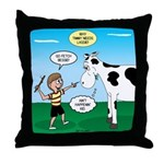 Timmy Cow Fetch Throw Pillow
