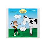 Timmy Cow Fetch Throw Blanket