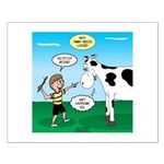 Timmy Cow Fetch Small Poster