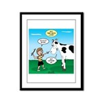 Timmy Cow Fetch Framed Panel Print