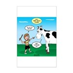 Timmy Cow Fetch Mini Poster Print
