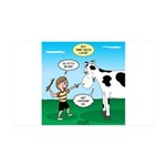 Timmy Cow Fetch 35x21 Wall Decal