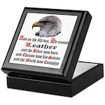 Biker Leather Eagle Prayer Keepsake Box