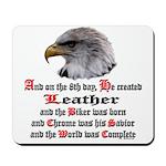 Biker Leather Eagle Prayer Mousepad