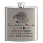 Biker Leather Eagle Prayer Flask