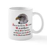 Biker Leather Eagle Prayer Mug