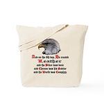 Biker Leather Eagle Prayer Tote Bag